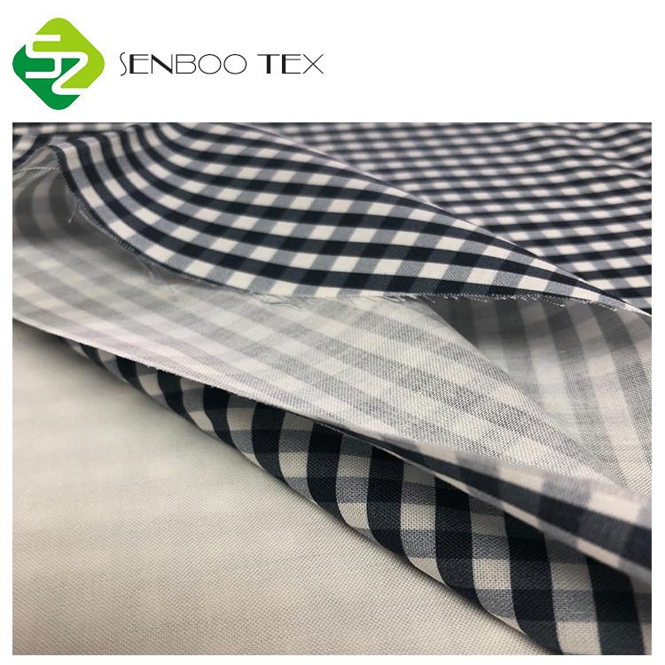 Органическая ткань из мерсеризованного хлопка, 100% органический хлопок, ткань с принтом в клетку, используется для платьев для девочек