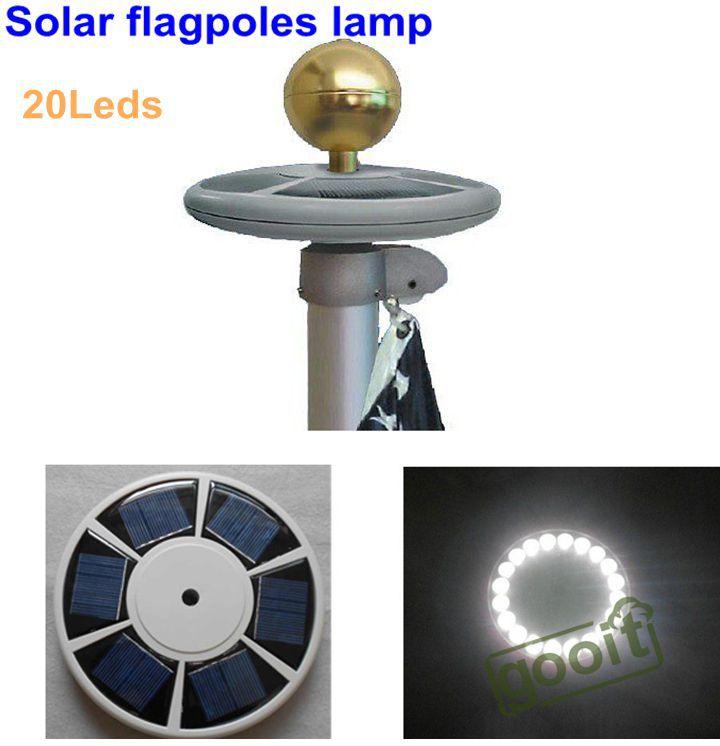 High Brightness 20 Led Solar Powered Flag Pole Light Solar