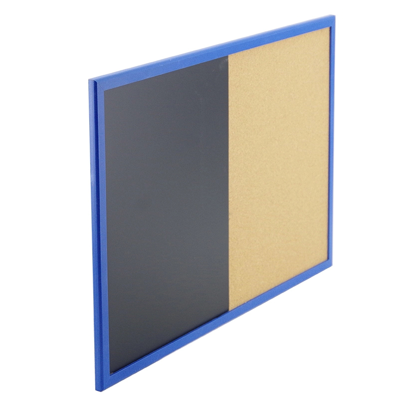 60*90cm Magnetic White Dry Erase Combine Cork Board In Wooden Frame