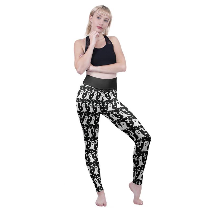 829f08c54 2019 Printed Yoga Pants Plus Size Workout Leggings Control For Women ...
