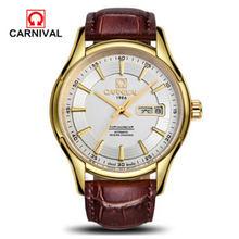 2016 карнавал военные автоматические механические известный бренд часы для мужчин полный стальной водонепроницаемый роскошные кожаные часы...(Китай)