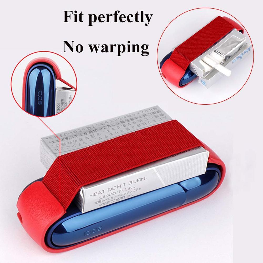 Lovekeke разноцветный защитный чехол из искусственной кожи для хранения с IQOS 3,0, портативные Чехлы, красный, синий, черный, оптовая продажа