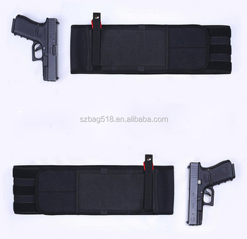 Unisex belly band concealed carry holster gun bag