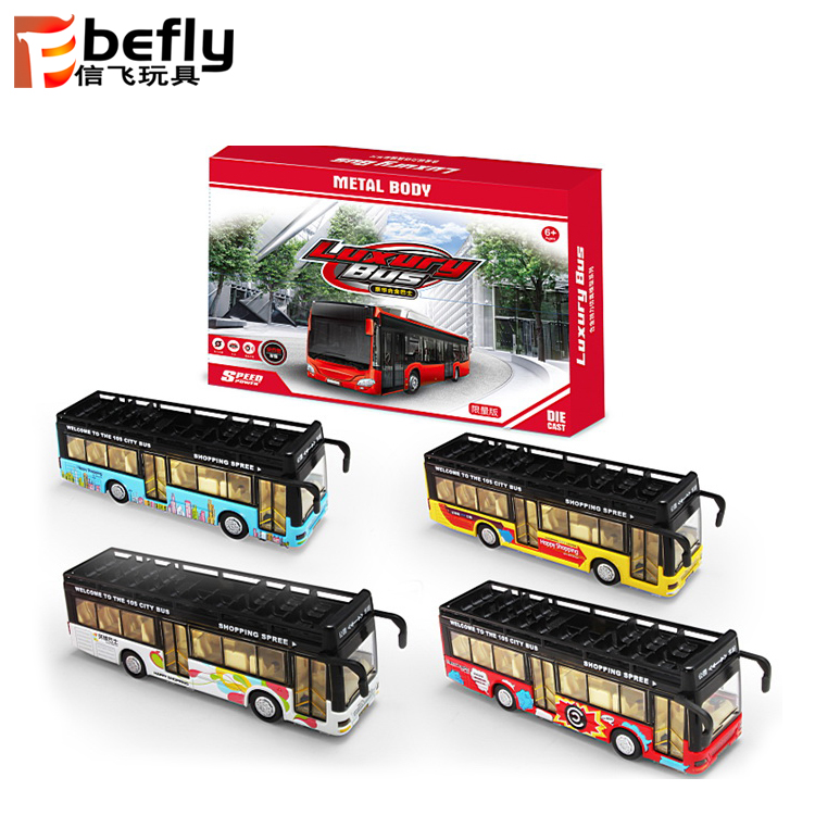 Cool small metal toy bus for boy