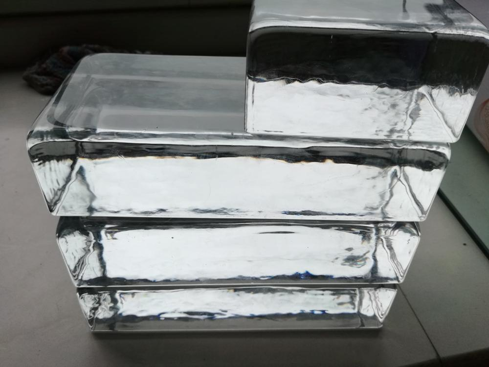 transparent glass block / brick for sun room can be customize