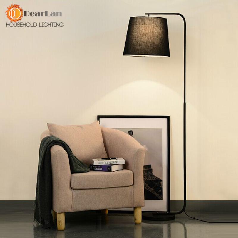 modern brief fork fabric floor lamp modern brief bedroom lights living room standing floor lamps. Black Bedroom Furniture Sets. Home Design Ideas