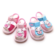 2016 Special Offer New Infants Cartoon For Hello Kitty Sandals Baby Fashion Slippers Shoes Children Girl
