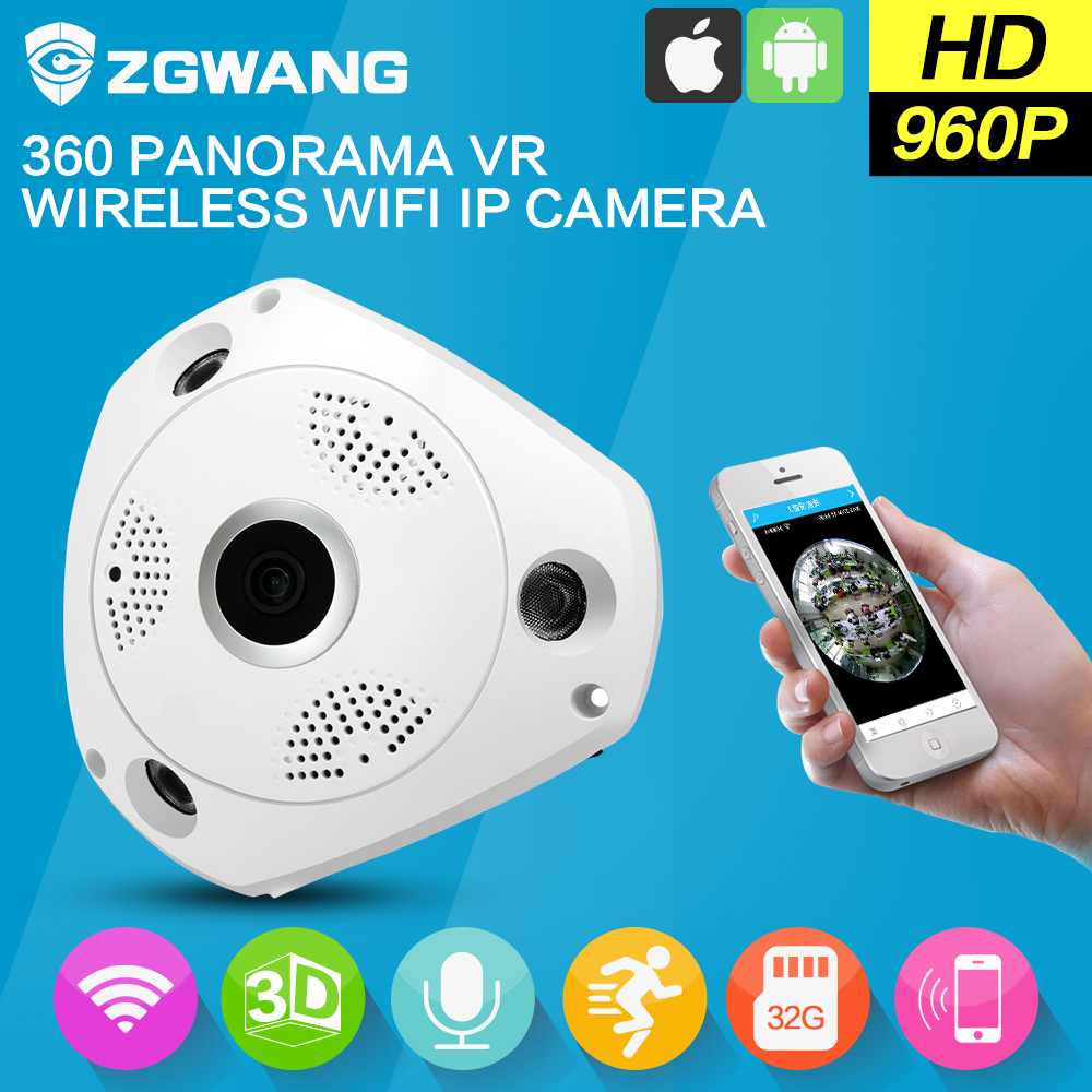 buy zgwang 360 degree panorama cctv camera wifi 960p hd wireless vr ip camera. Black Bedroom Furniture Sets. Home Design Ideas