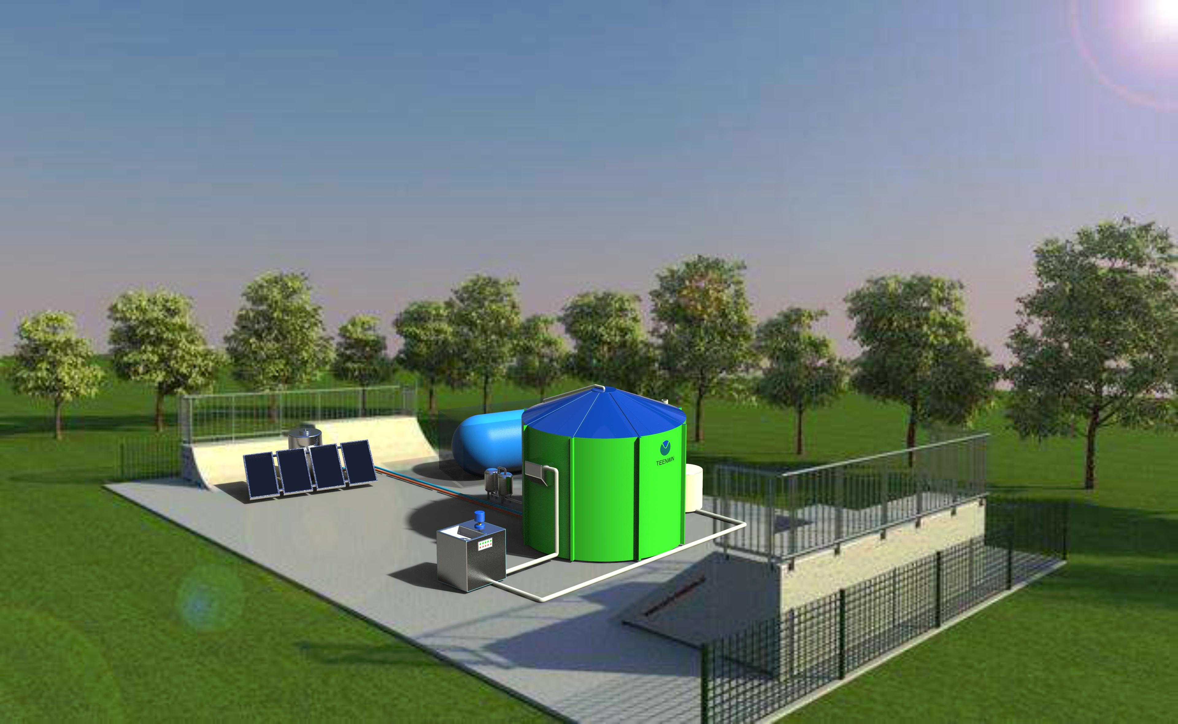Биогазовая установка для обработки органических отходов Teenwin