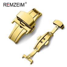Автоматическая застежка-бабочка с двойным кликом, кнопка из нержавеющей стали для ремешка часов 16 мм 20 мм 22 мм 24 мм, Подарочный инструмент(Китай)