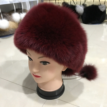 e278214ff22ad fashion new style luxury winter Russian natural real fox fur hat 2017 women  warm good quality