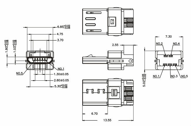 Micro Usb Dimensions Pictures To Pin Pinsdaddy