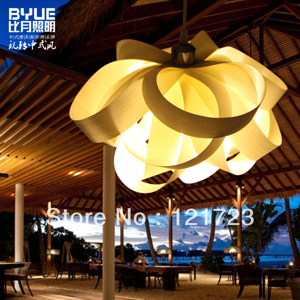 japanischen stil handgefertigt aufkleber furnier wolle lampe blumen anh nger personalisierte. Black Bedroom Furniture Sets. Home Design Ideas
