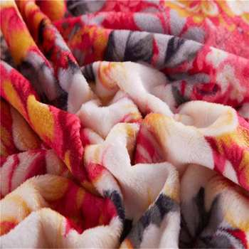 Single layer two sides brushed super soft flannel fleece blanket for your home