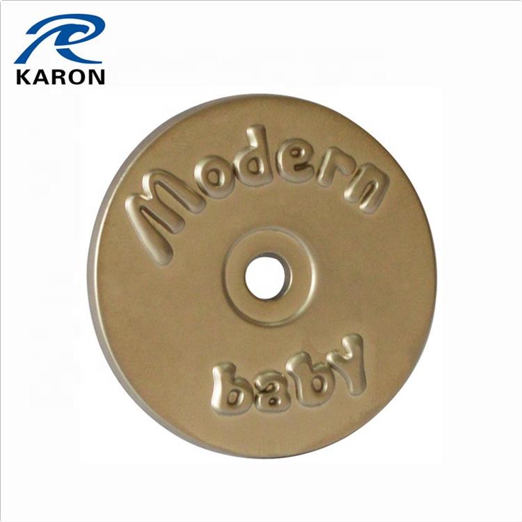wholesale custom logo metal label for hand bags