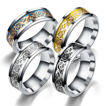 Manufacturers custom fashion ring new gold pieces silver pieces dragon ring classic lovers ring