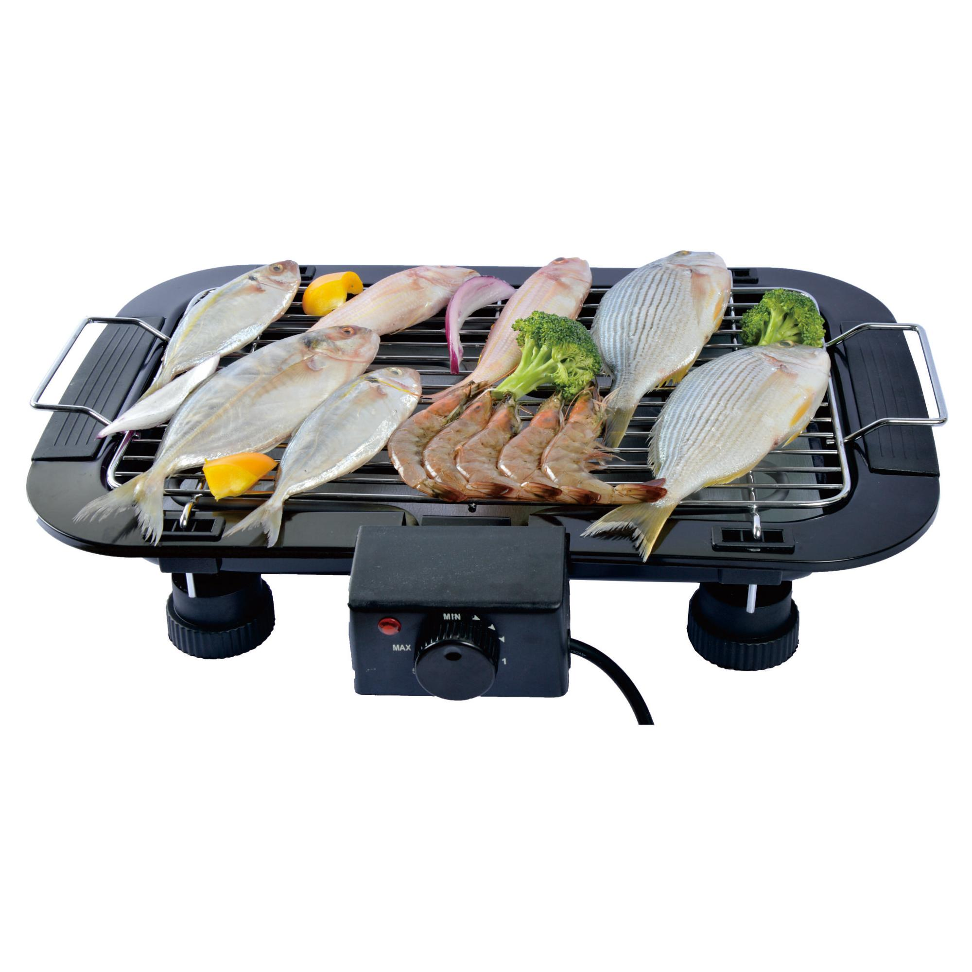 Indoor Tabletop Thermostat Grill Height Adjustable Electric BBQ Grill Electric Barbecue Grill