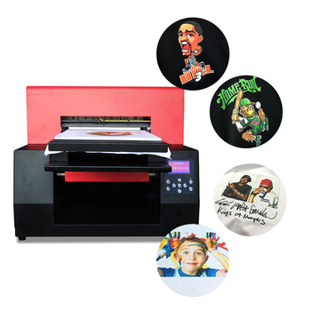 NEW DTG Flatbed Printer A3 1390 Direct To Garment T-shirt Printer 6 Colors
