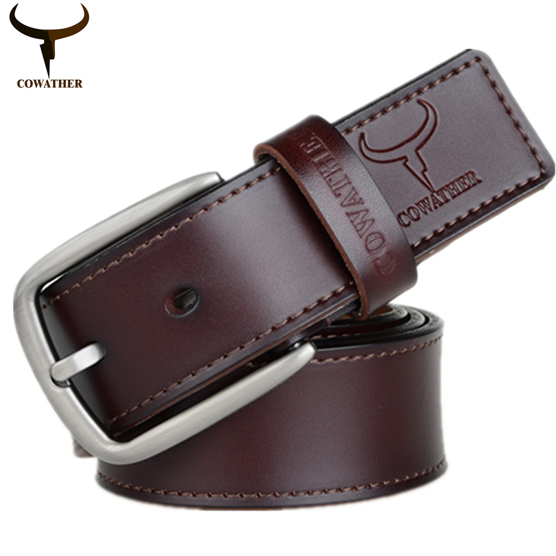 ed6e22f5b33c3 COWATHER fashion design cow genuine leather 2016 new men belts good quality  male belt for men