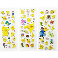60 Sheets lot Pokemon Pikachu Cartoon Puffy Stickers Kids Classic Toy 3D Anime Stickers for Children