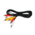 3 RCA to 3 RCA Composite Audio Video AV Cable Male to Male Phono Plug Extension Cord for TV DVD