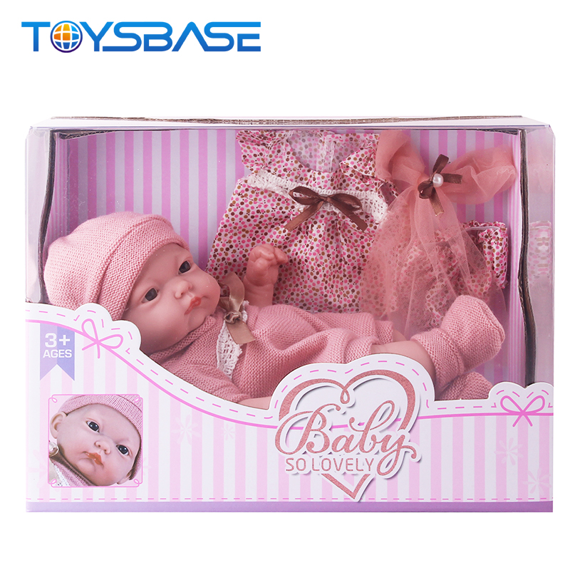 Baby Girl Toys Hot Mini Soft Full Silicone Realistic Reborn Baby 10 Inch Dolls