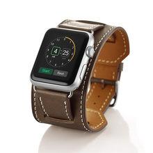 Роскошные удлиненные натуральная кожа кожаный ремешок двойной тур Браслет Кожаный ремешок для наручных часов Apple Watch Series 5/4/3/2/1 40 мм 44 мм(Китай)