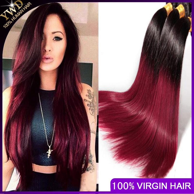 Amazoncom  Two Tone Black to Maroon Ombre Hair