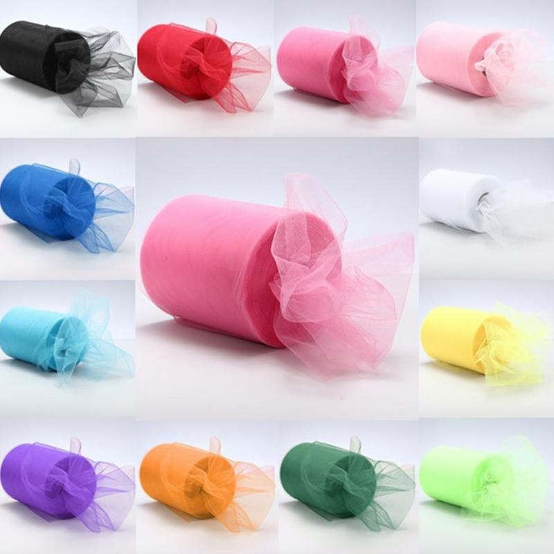 100 Yards Tulle Wedding Backdrop Wedding Decoration 15cm: Acheter Gros Mode Tulle Rouleau 6 Pouces 100 Yards Rouleau