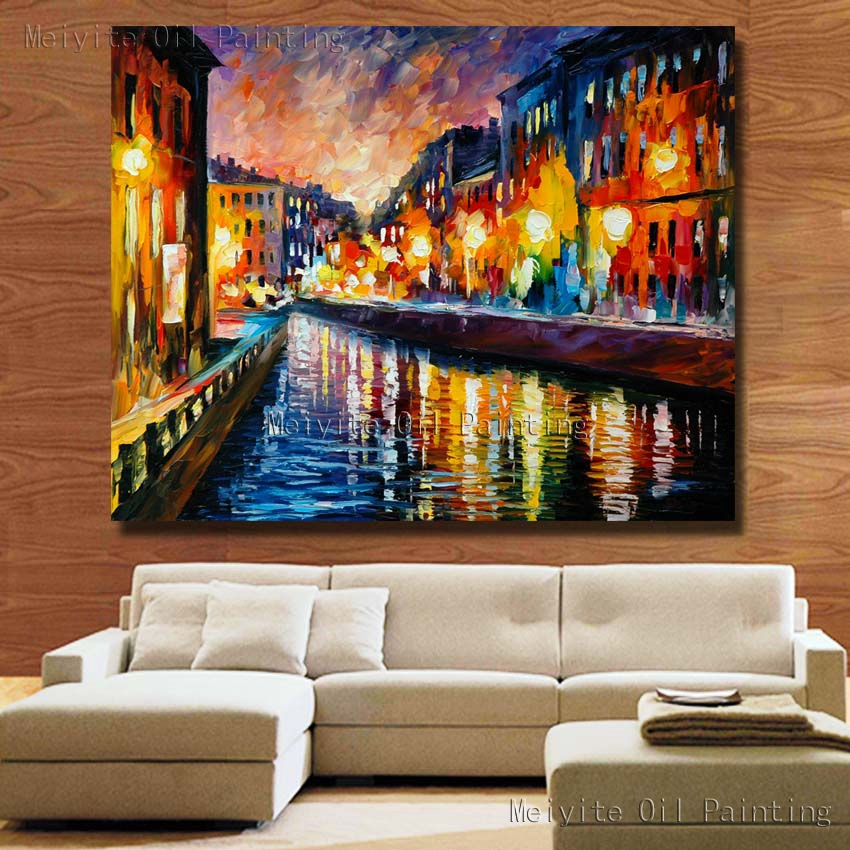Free Shipping Home Decorators: Hand Painted Canvas Oil Painting Free Shipping Large