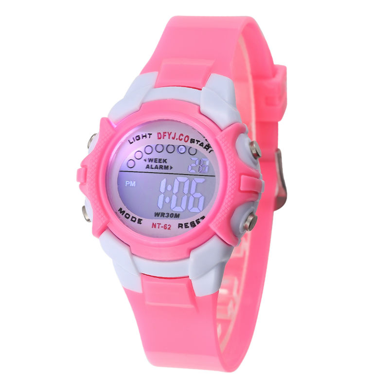Children's Watches Irissshine #0110 Children Watch Boy Girl Alarm Date Digital Multifunction Sport Led Light Wrist Watch Relogio Feminino A15