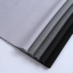 Новый дизайн отличное качество изготовленный на заказ Серый Цвет Тканая саржа, тянущаяся в 4 направлениях, искусственный шелк полиэстер спандекс ткань