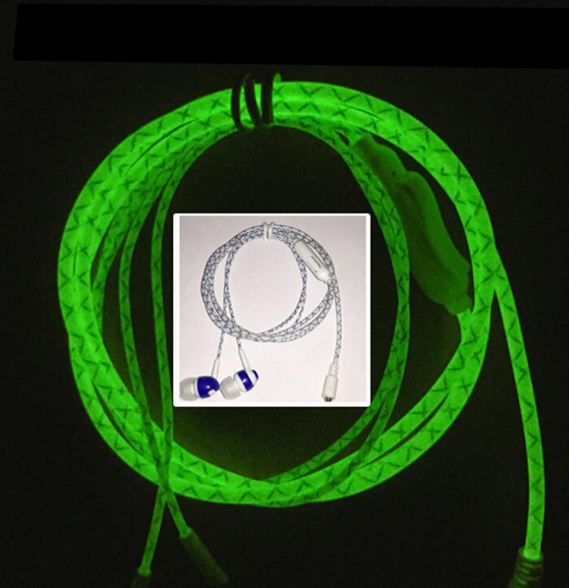 New Glow In The Dark Headphones Cool LED Earphone Luminous