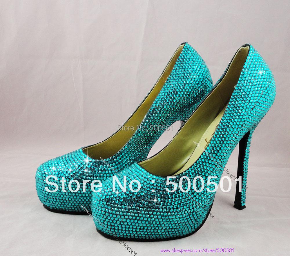 Aliexpress.com : Buy Ladies High Heel Fashion Teal Wedding