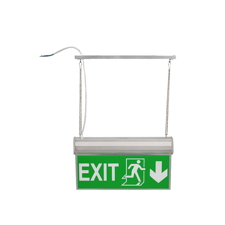 Shenzhen factory 3 years warranty CE RoHS high brightness LED fire emergency Exit sign font