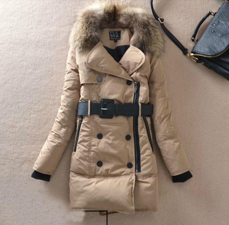 Womens fur parka jacket