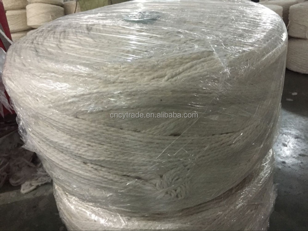 raw white 2.5gr per meter 2ply cotton mop yarn