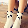 New real caramella character cotton brand meias femininas warm cute cartoon panda korean socks for women