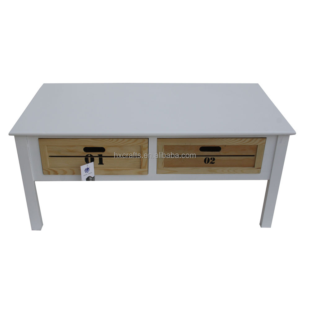 Get Distressed White Coffee Table Images