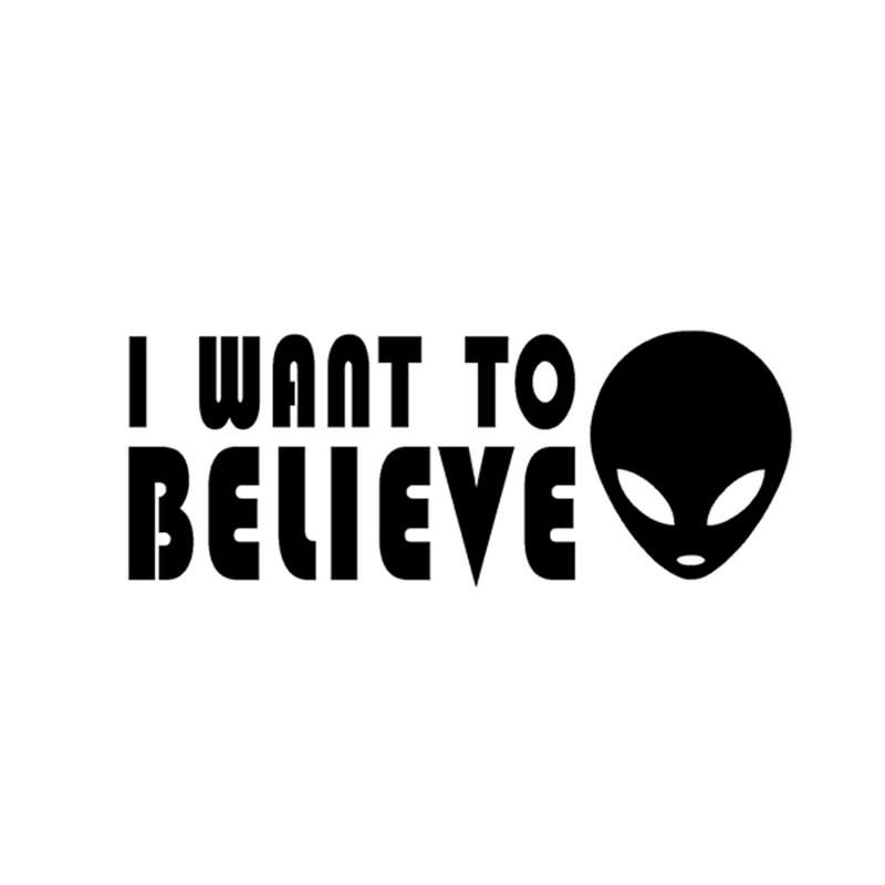 I WANT TO BELIEVE Sticker Alien UFO X Files Vinyl Decal