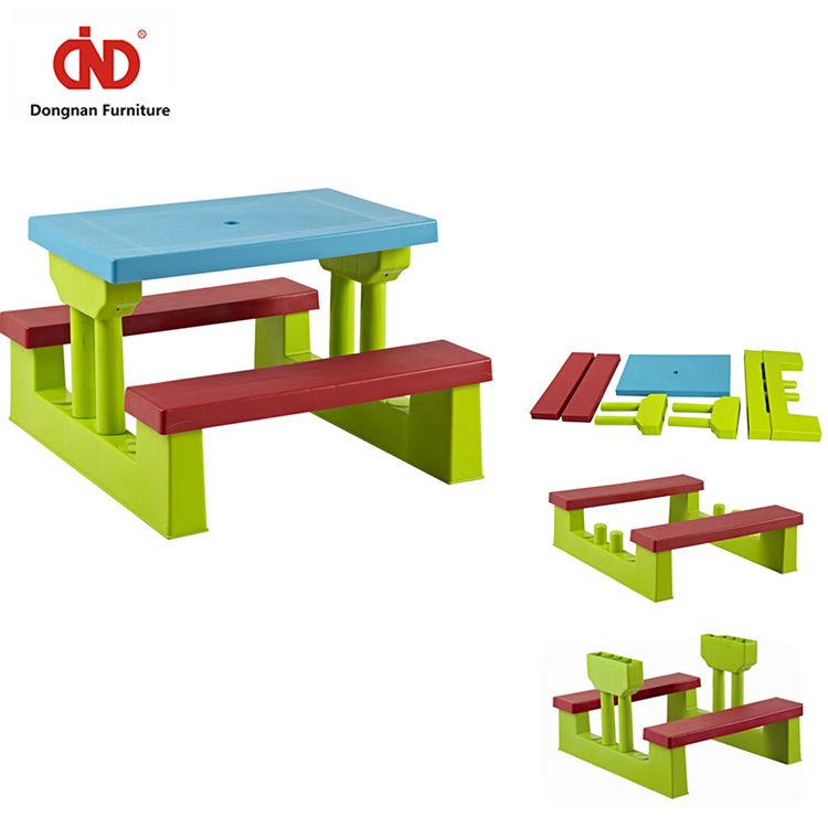 New Design 100% Test Eating Folding Kids Table And Chair With Umbrella set