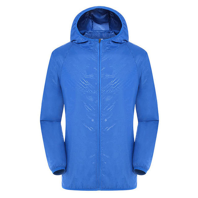 Sports outdoor solid color wind and water repellent cheater breaker jacket men