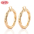 Korean Style 18K Gold Plated Color Big Hoop Earrings