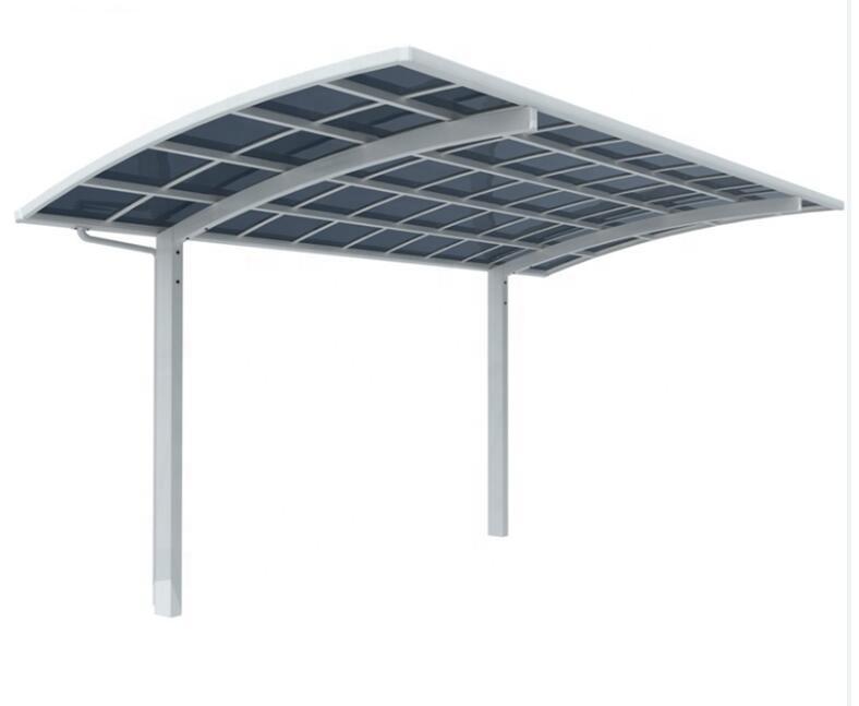 Наружная стеклянная крыша, металлический автомобильный гаражный порт, гаражное хранилище