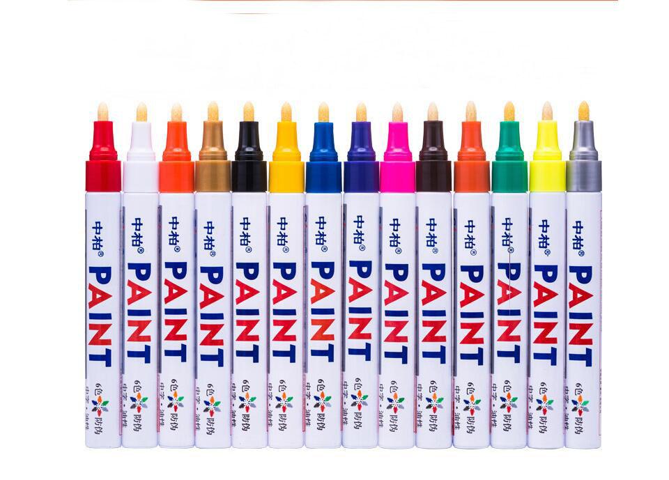 Oil-based Valve Action Paint Pens, Fine Point Acrylic Tip, Multichem Ink Paint pen