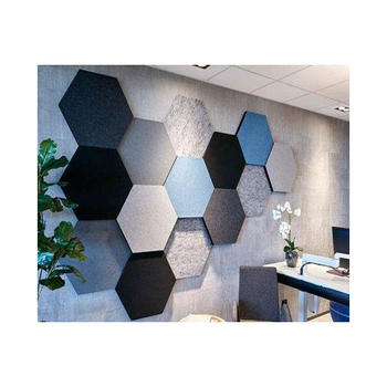 hexagon design colorful acoustic polyester fiber panel for decoration