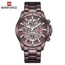 Мужские наручные часы NAVIFORCE, повседневные кварцевые часы в стиле милитари, водонепроницаемые часы, 2019(Китай)