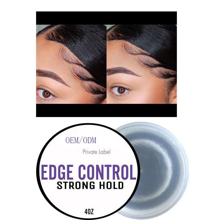 OEM ODM пользовательская этикетка Оптовая Органическая помада для укладки волос с сильным контролем кромки с кисточкой