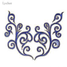 Lychee 1 пара золотые кружевные нашивки-аппликации Venise кружевная вышивка утюжок на заплатках свадебные аксессуары для одежды(Китай)