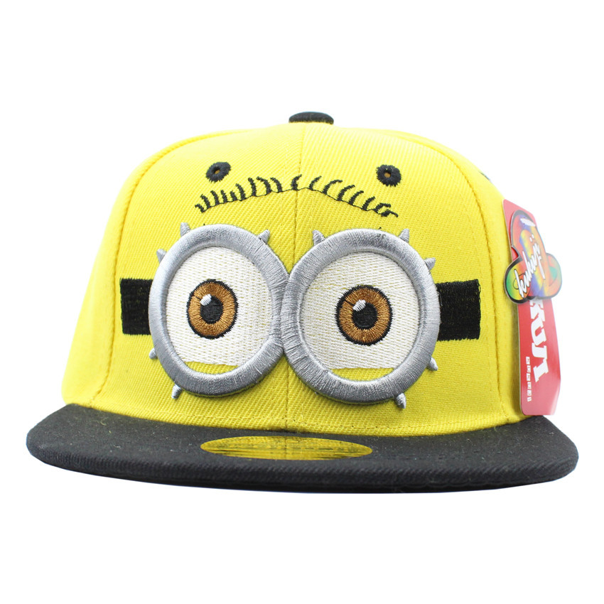 Children s baseball cap double eye cartoon snapback caps hip hop cap male girl gorras planas